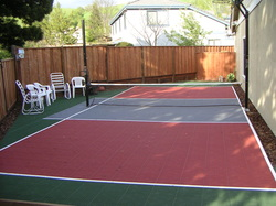 Building a backyard multi sport game court building a Cost to build basketball court